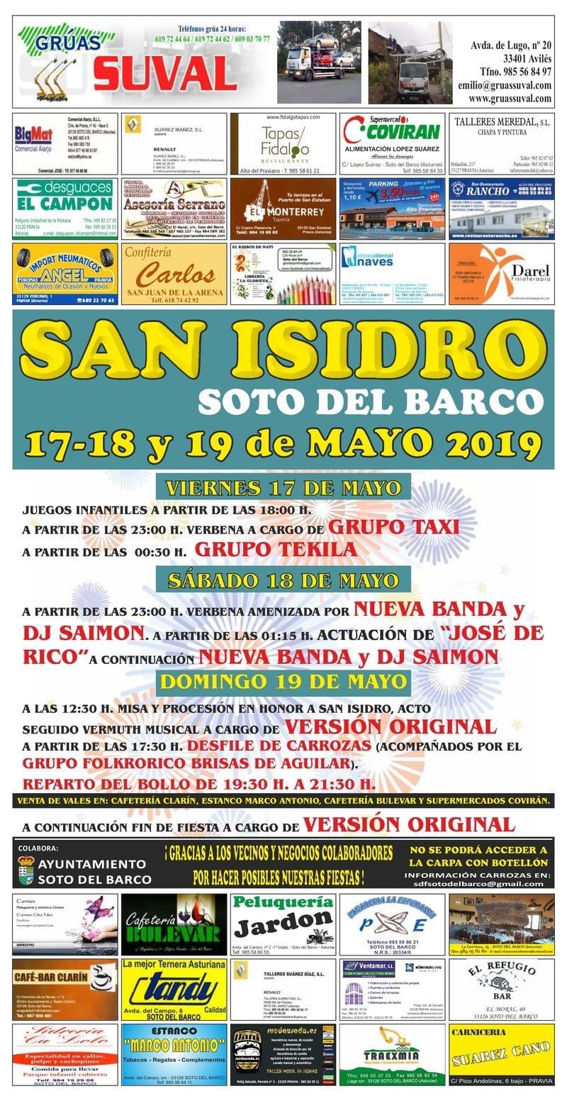 CARTEL SAN ISIDRO 2019 - SOTO DEL BARCO