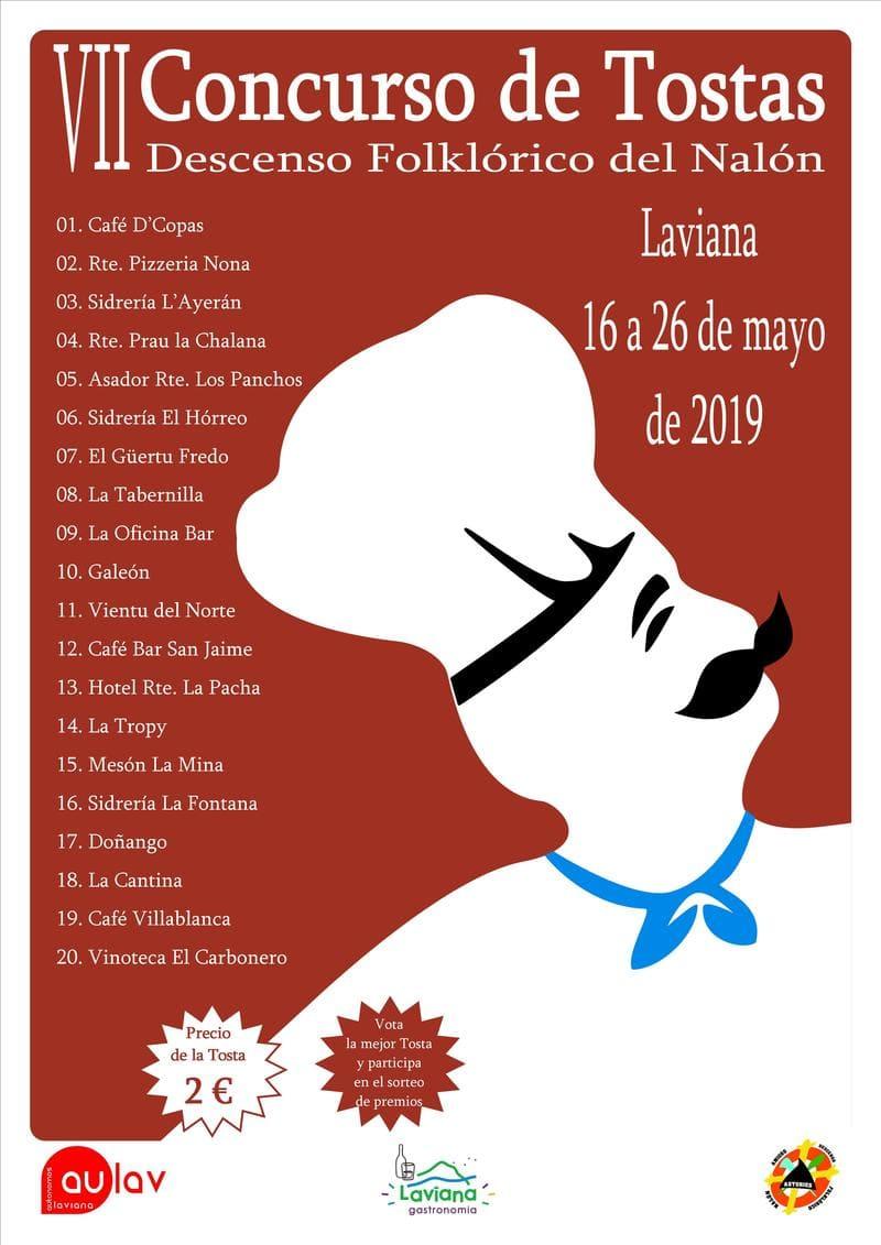 Cartel Tostas Laviana 2019