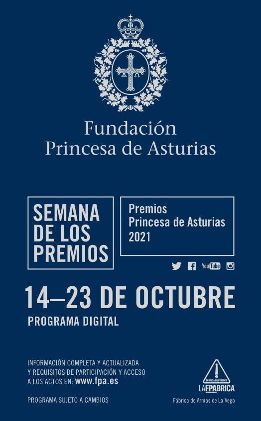 Programa Actividades Premios Princesa de Asturias 2021